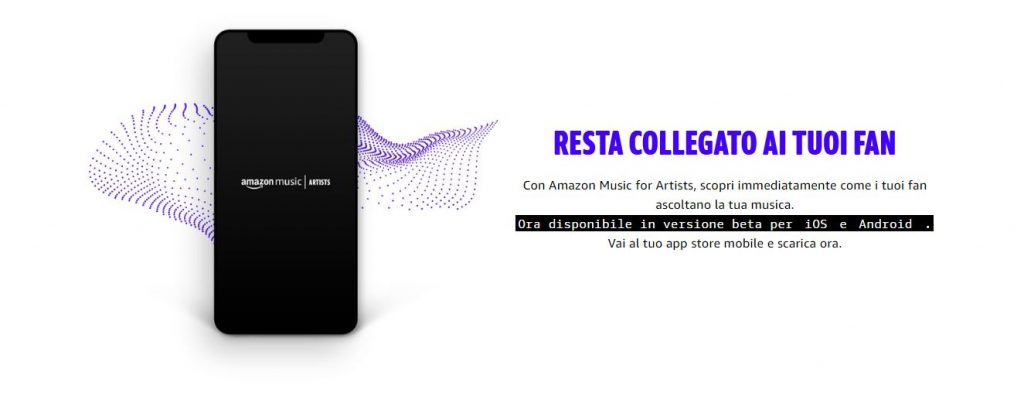 amazon music for artists sito