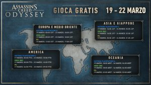 assassin's creed odyssey gratuito mappa