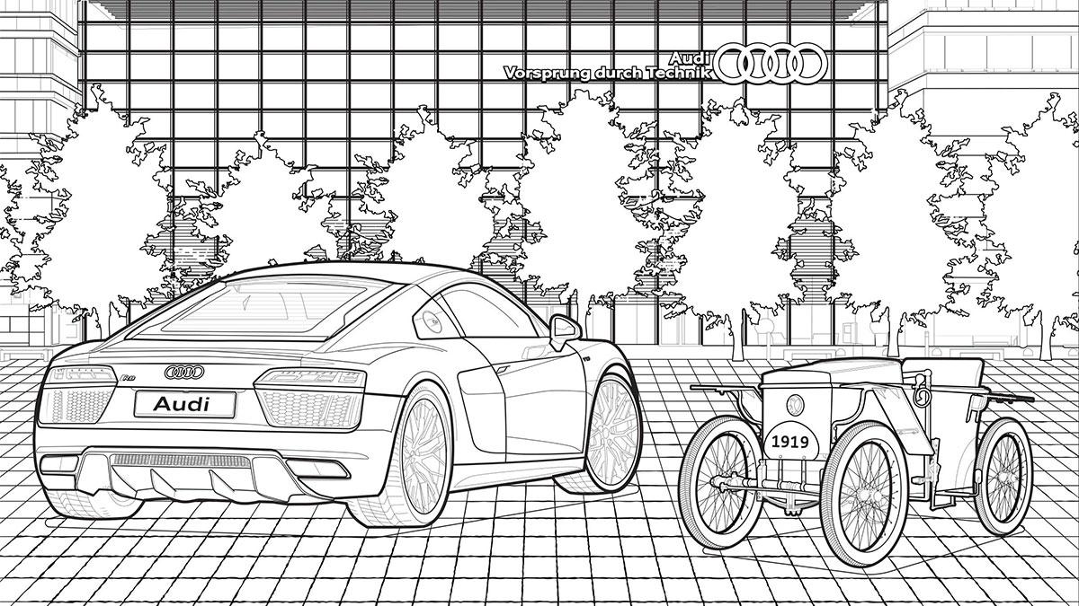 Audi libro da colorare