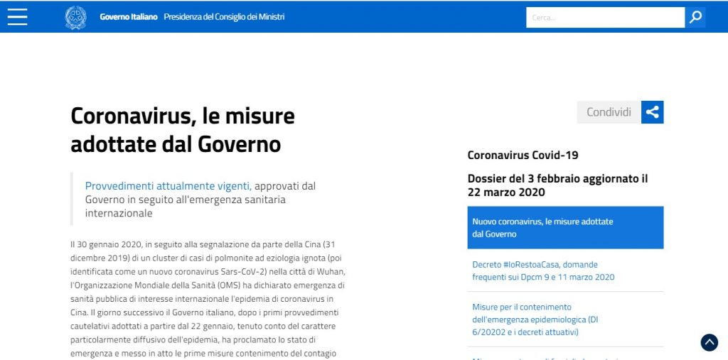 coronavirus fake news sito governo