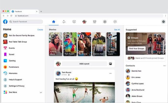 Facebook è tutto nuovo: interfaccia e dark mode thumbnail