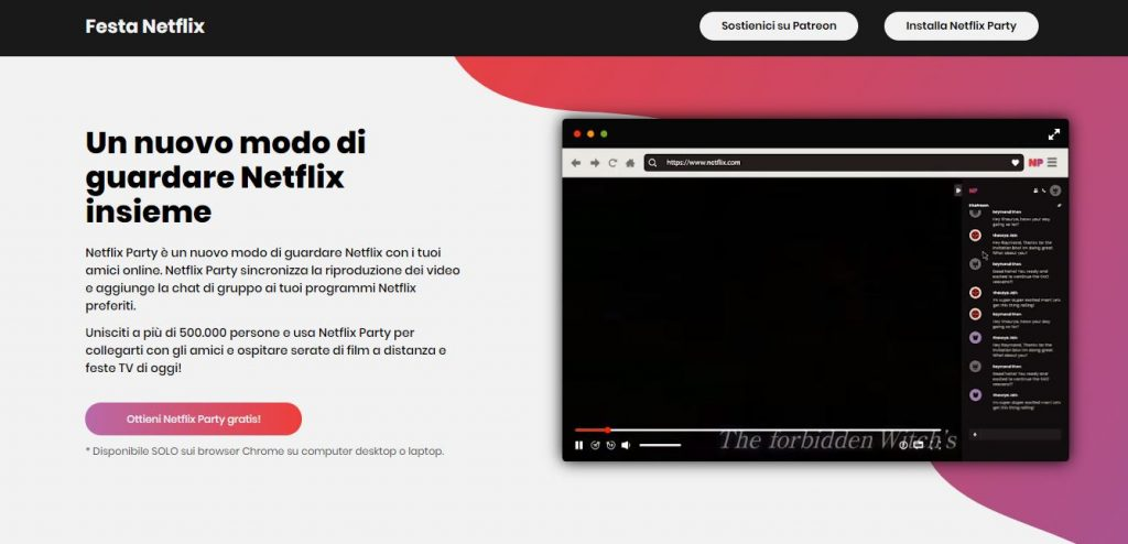 Netflix Party sito