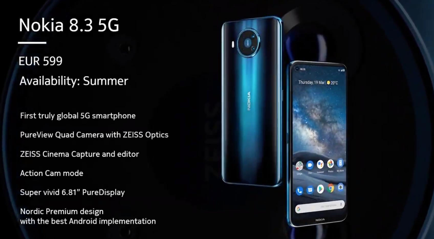 Nokia (HMD) si lancia nell'era del 5G e lancia 3 nuovi smartphone thumbnail