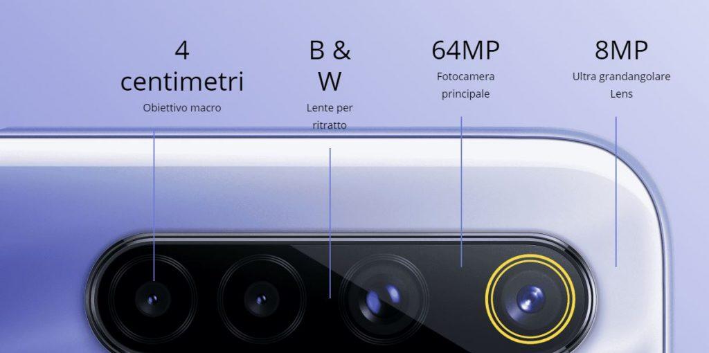 realme serie 6 ufficiali fotocamera