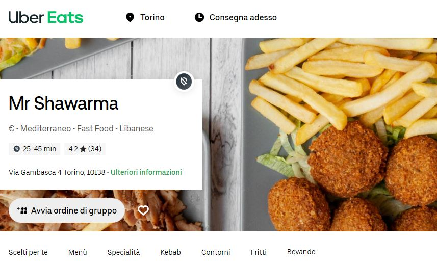 shawarma hungry food delivery