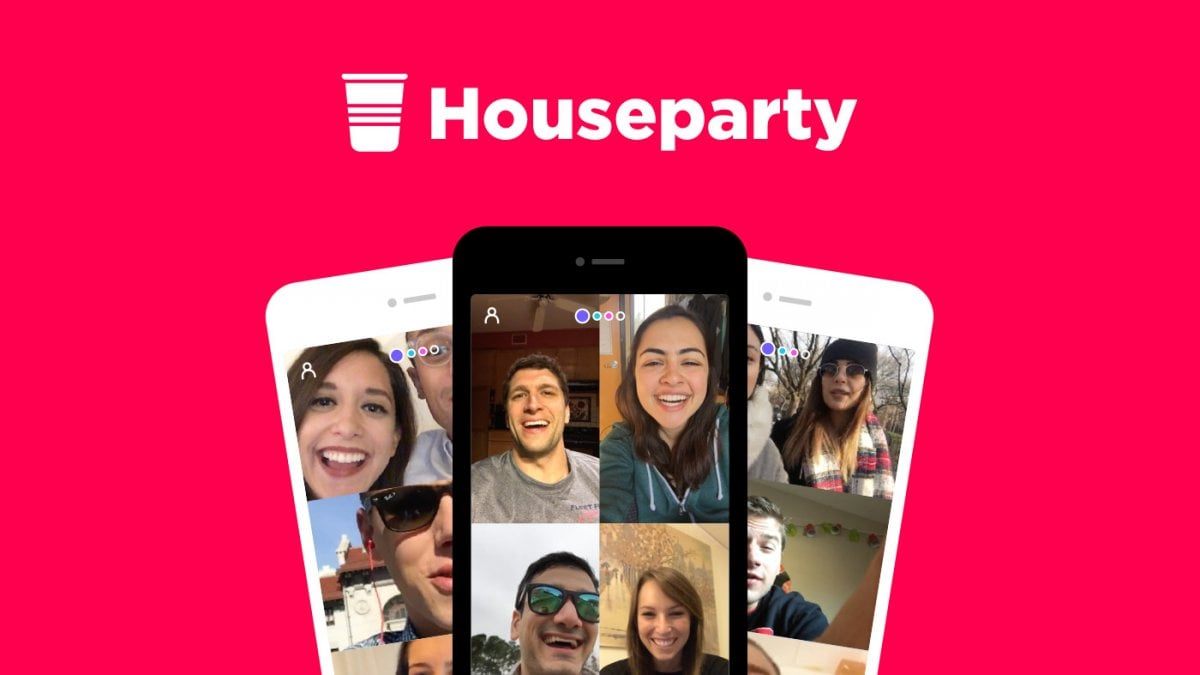 video chat con Houseparty