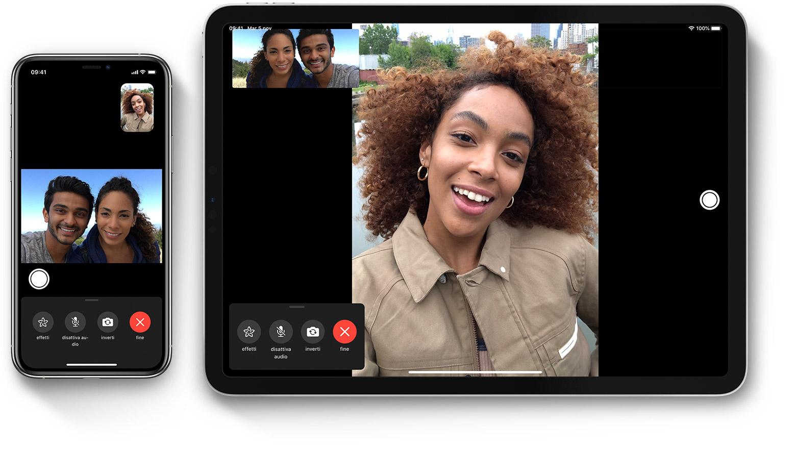 videochiamata con Facetime