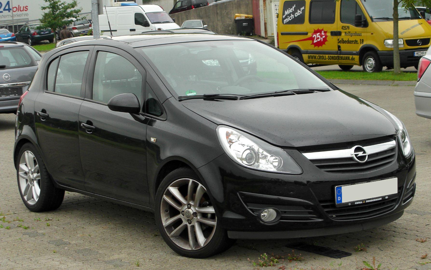Auto più lente Opel Corsa 2