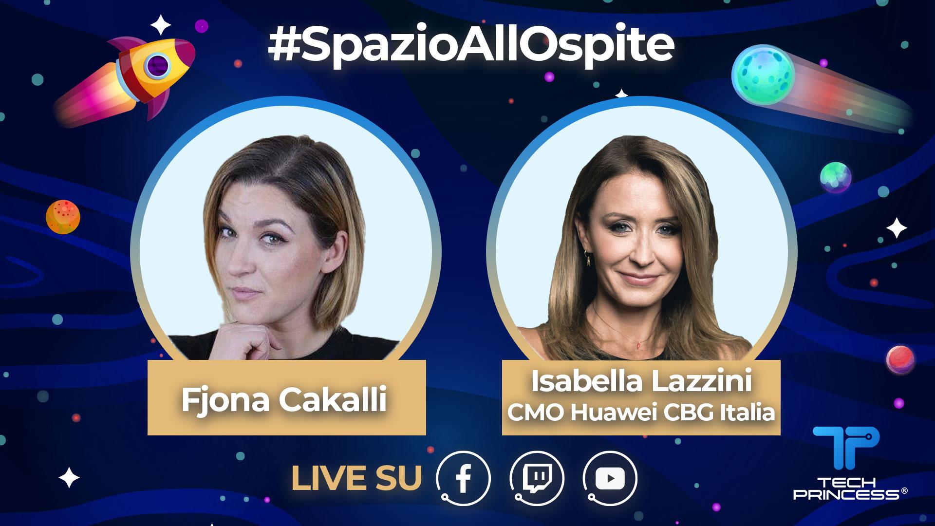Isabella Lazzini, Huawei: intervista in diretta giovedì 16 Aprile ore 18.00 | #SpazioAllOspite thumbnail