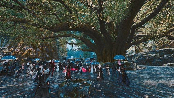 Final Fantasy coronavirus commemorazione albero