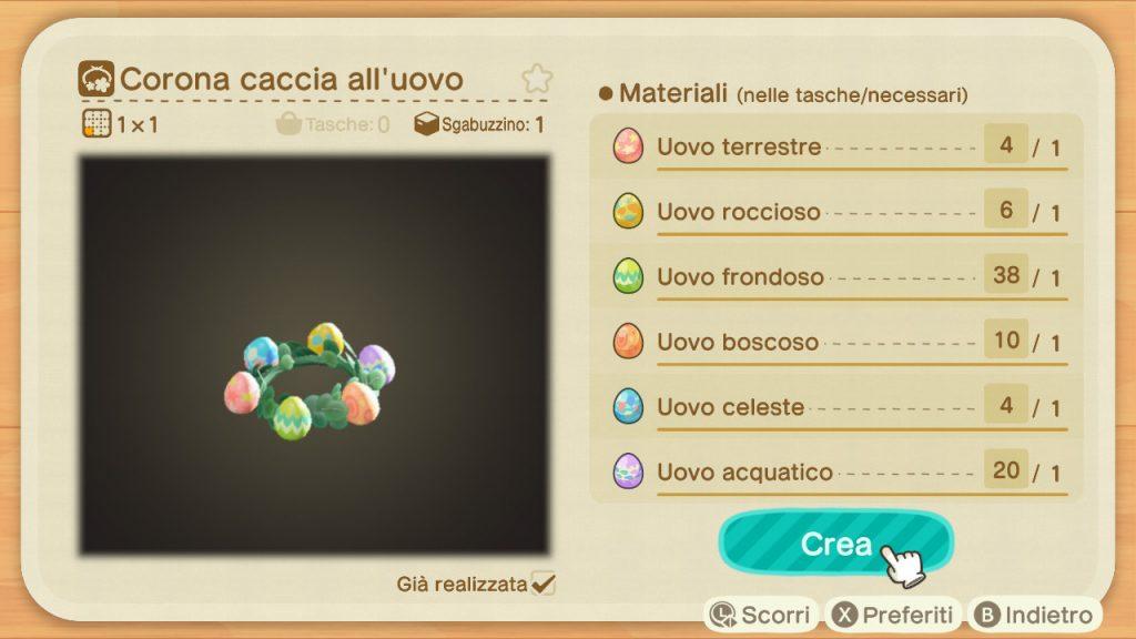 Guida Pasqua Animal Crossing New Horizons corona