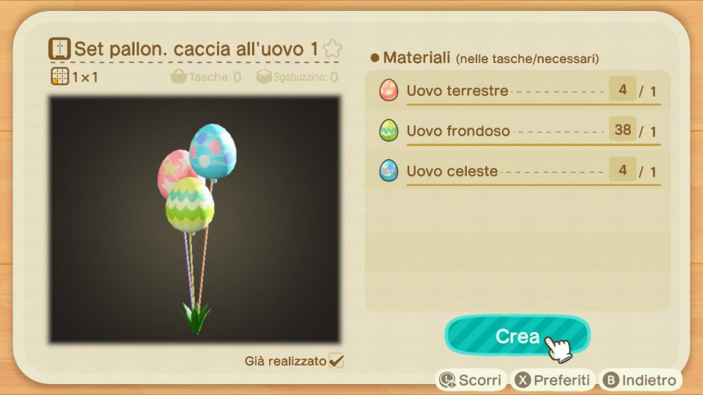 Guida Pasqua Animal Crossing New Horizons palloncini 2
