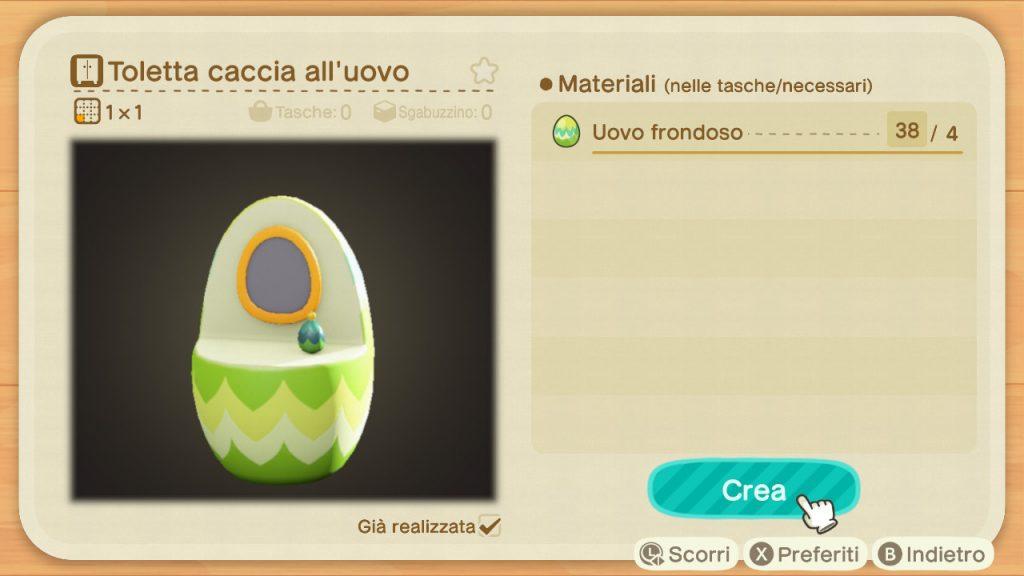 Guida Pasqua Animal Crossing New Horizons toeletta