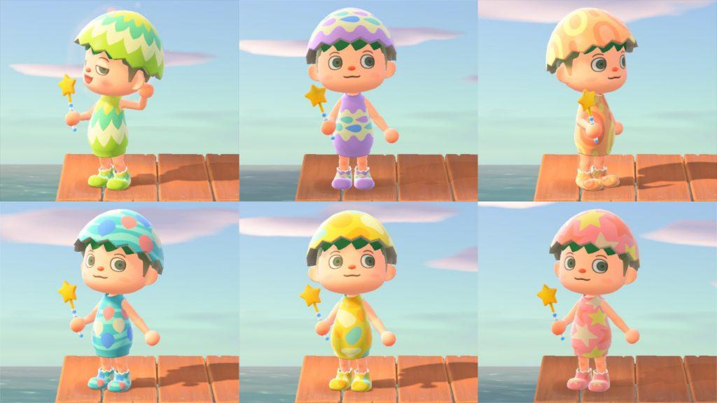 Guida Pasqua Animal Crossing New Horizons vestiti