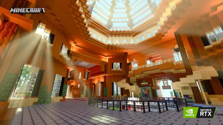 Minecraft ray-tracing nvidia Imagination Island