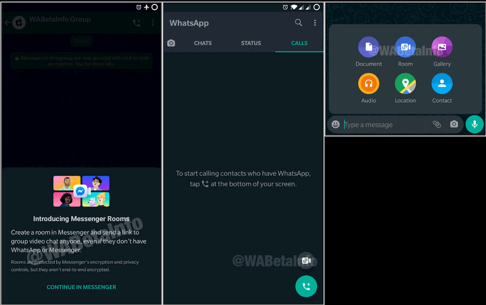 WhatsApp Messenger Rooms