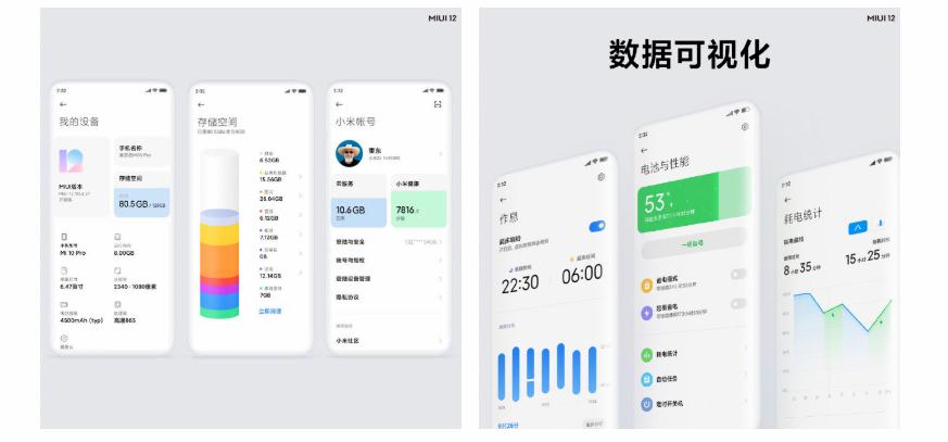 Xiaomi MIUI 12 Sensory Visual Design