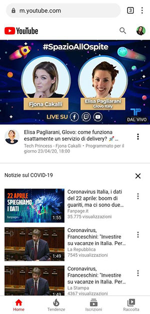 Smartphone Huawei senza Google Apps YouTube