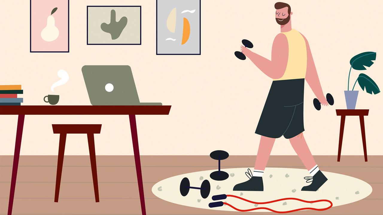 Allenamento in casa: 7 oggetti comuni, ed una connessione internet thumbnail