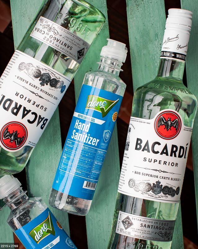 bacardi coronavirus cocktail disinfettante