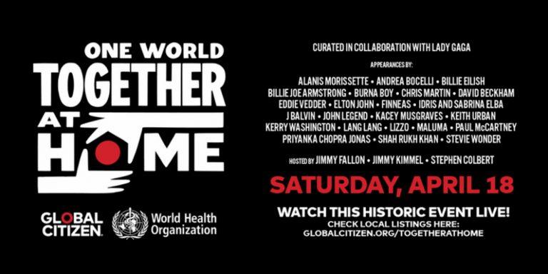 concerto streaming coronavirus one world together at home copertina