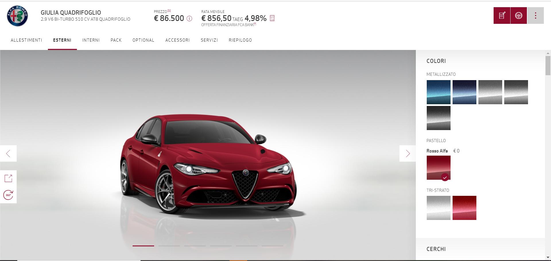 configuratore Alfa Romeo