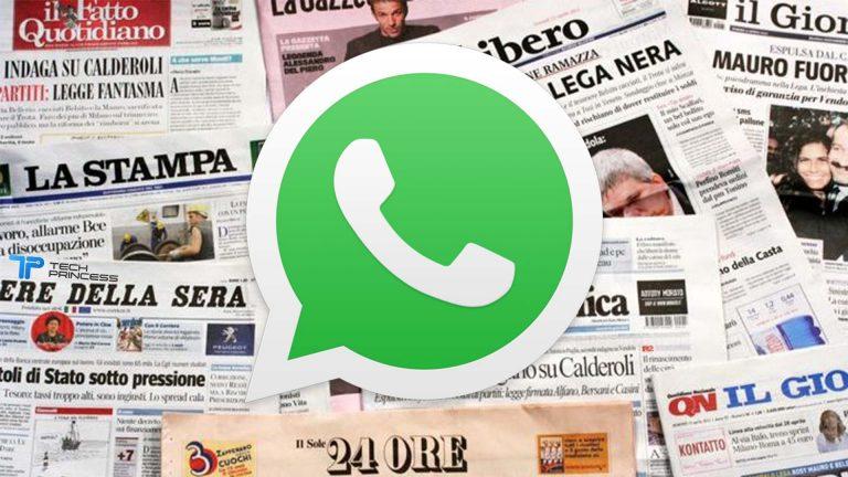 giornali gratis whatsapp