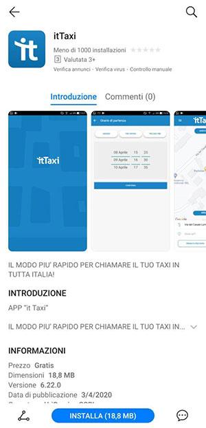 Smartphone Huawei senza Google Apps itTaxi