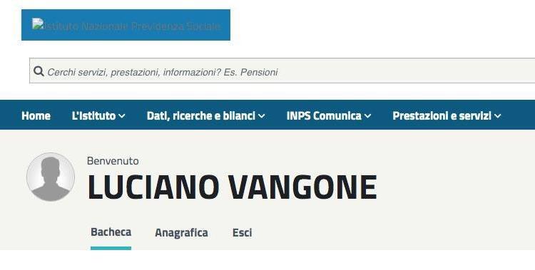 Il bug del sito dell'INPS vi tramuterà in Luciano Vangone. Che disastro per la privacy thumbnail