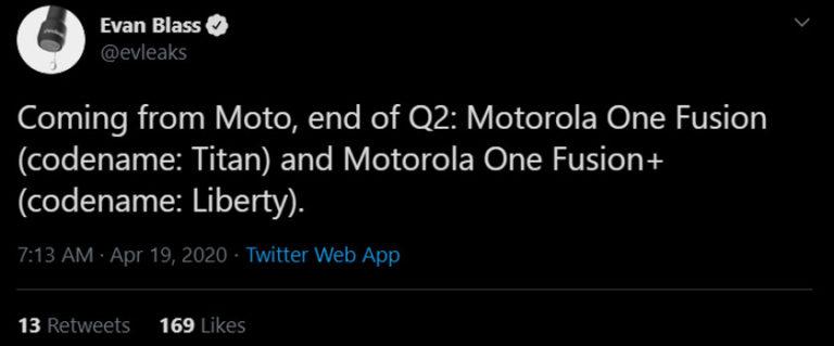 motorola one fusion uscita leaks