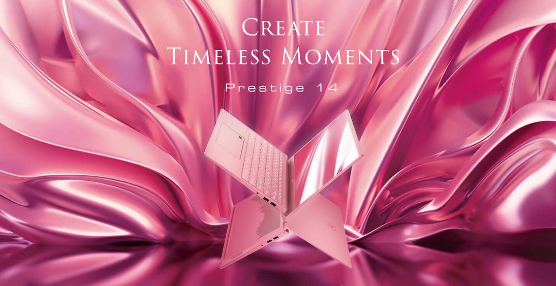 MSI Prestige 14 si tinge di rosa thumbnail