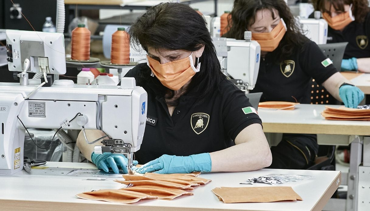 vendita auto mascherine lamborghini