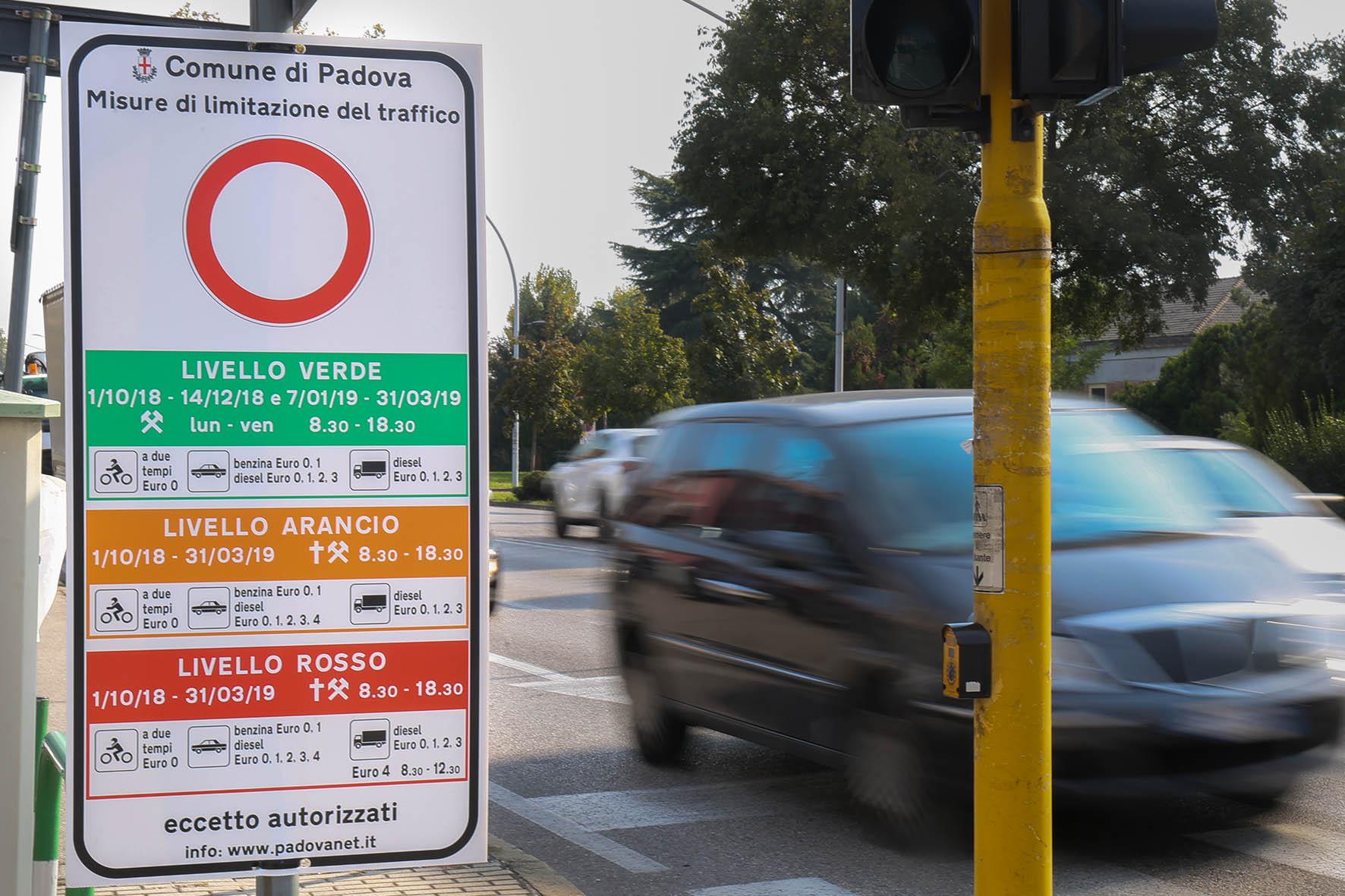 vendita auto restrizioni traffico Padova