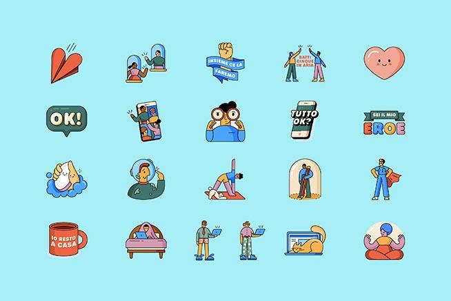 WhatsApp: nuovi sticker per promuovere il distanziamento sociale thumbnail