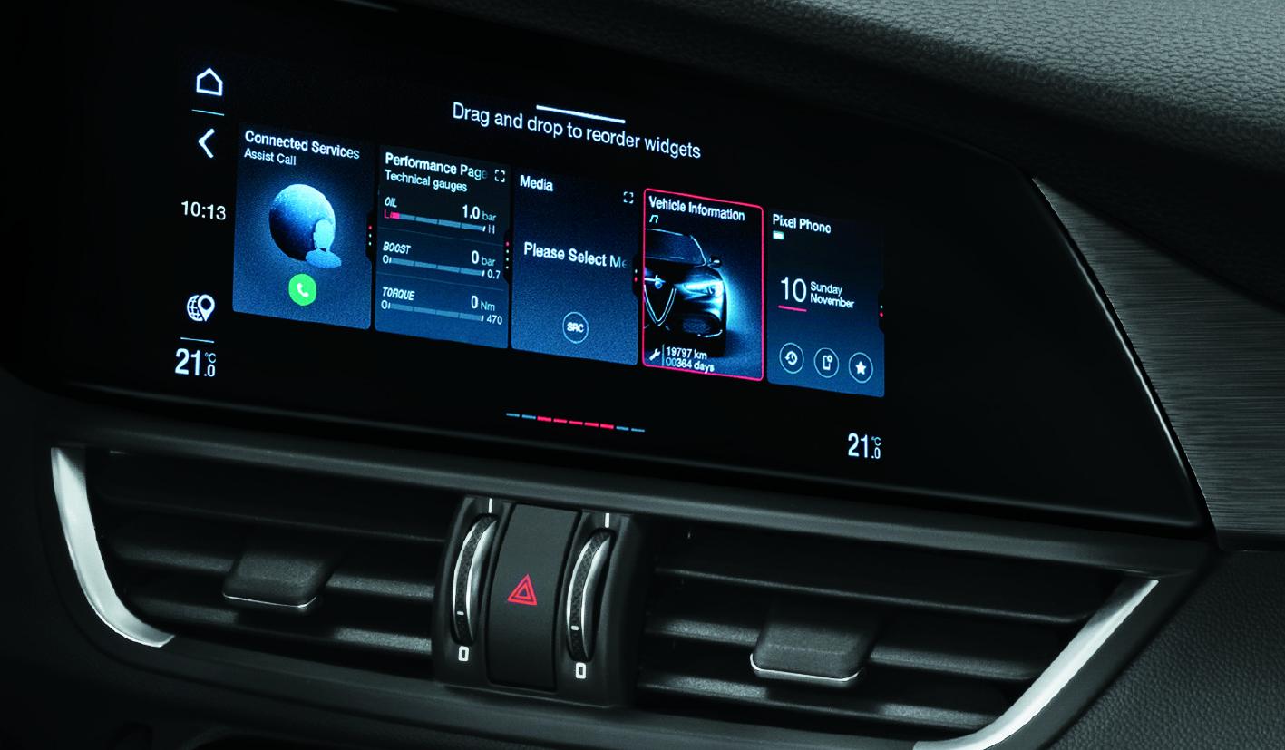Alfa Romeo Giulia schermo