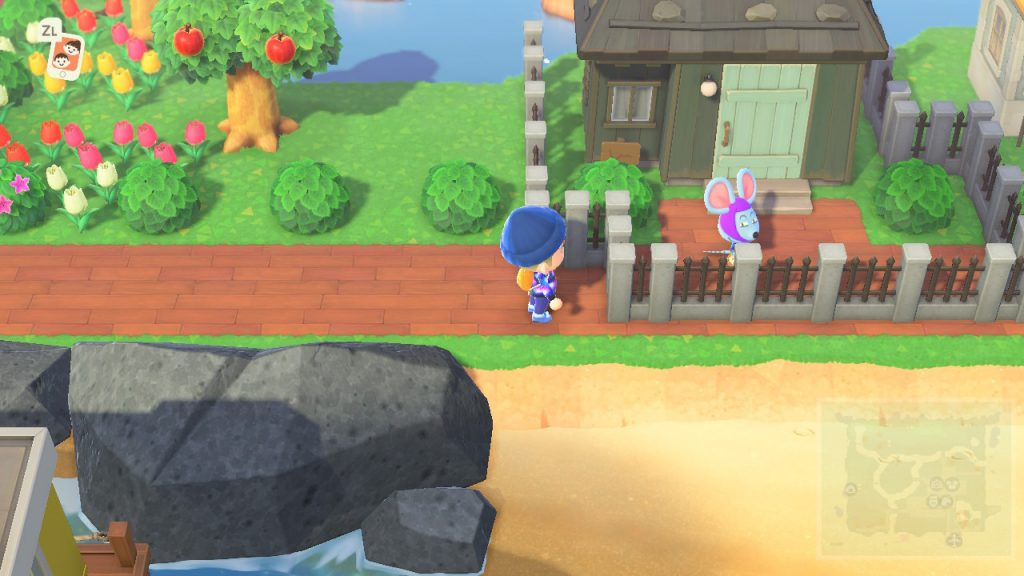 Animal Crossing New Horizons cacciare abitante recinto