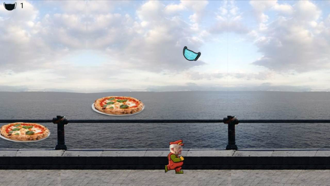 De Luca Run, il governatore come Super Mario nel nuovo videogame thumbnail