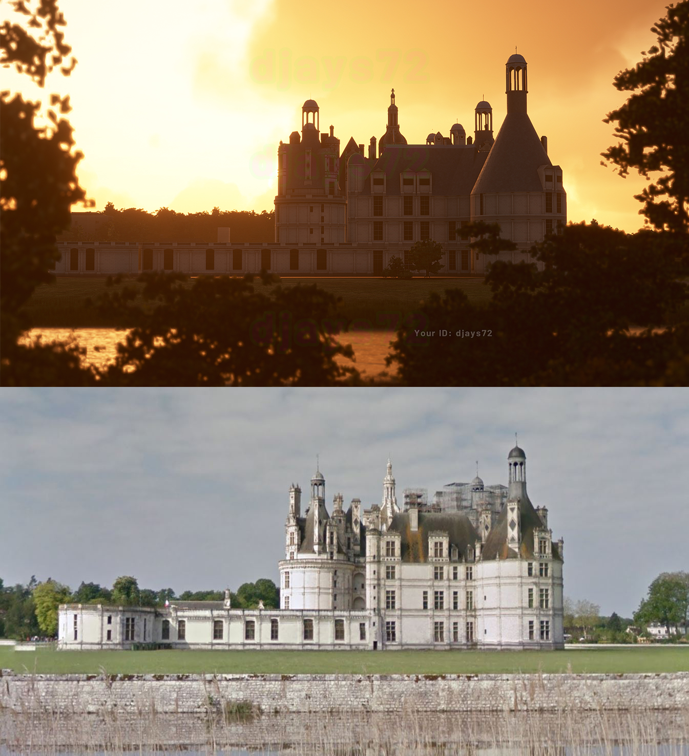 Flight Simulator chateau de chambord