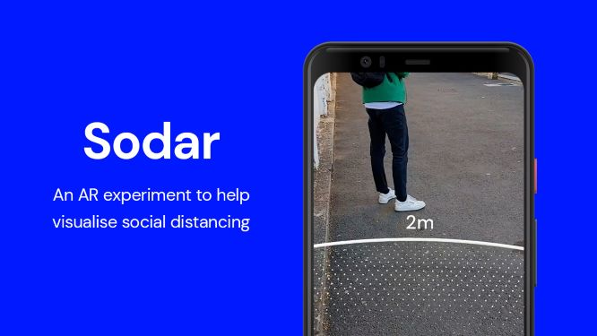 Google Sodar realtà aumentata distanziamento sociale