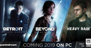 Heavy Rain, Beyond Two Souls e Detroit: Become Human su Steam
