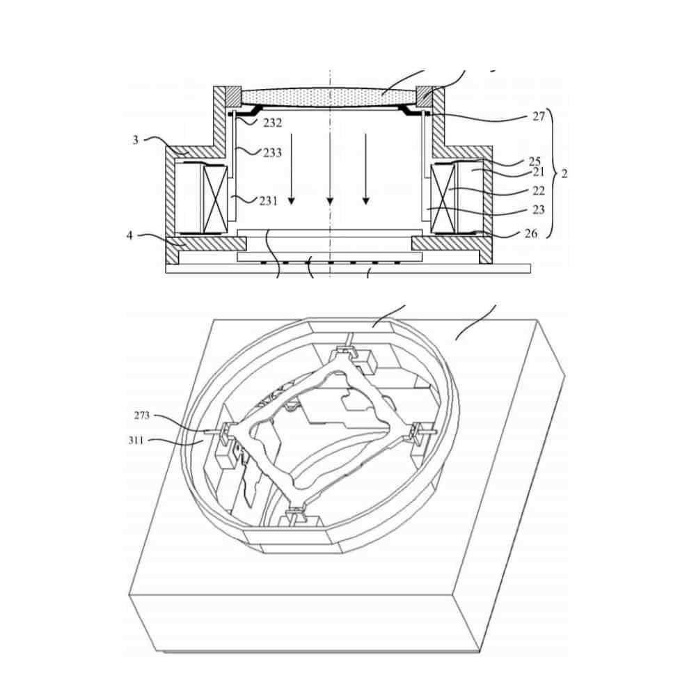 Huawei lente liquida brevetto