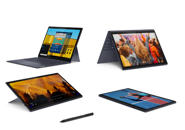 Lenovo presenta due nuovi laptop con tastiera staccabile e un tablet con Smart Dock thumbnail