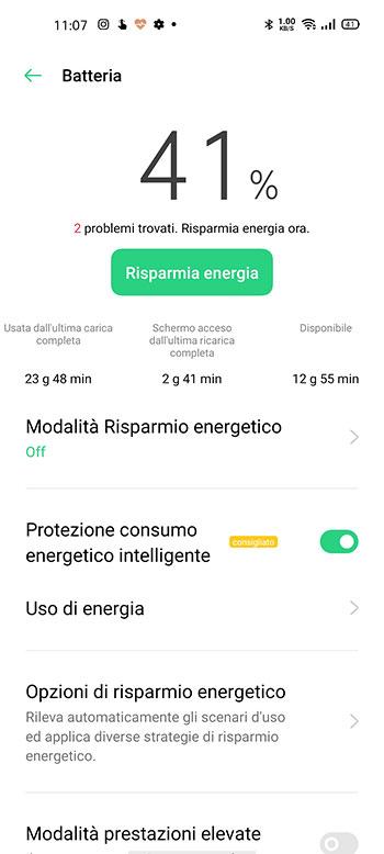 Oppo Find X2 recensione batteria