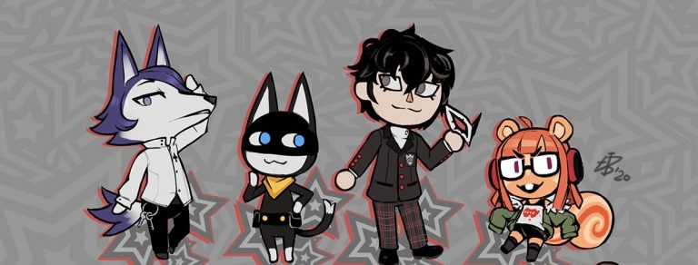 persona 5 animal crossing fanart