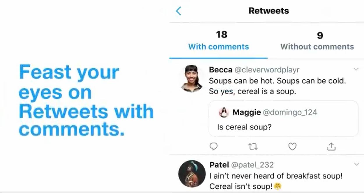 Su Twitter per iOS i retweet con commento sono ora raggruppati in solo posto thumbnail