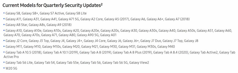 Samsung Galaxy S8 aggiornamenti