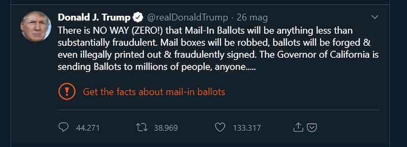 Trump tweet ordine esecutivo social network