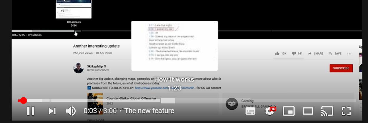 Youtube permetterà la divisione in 'Capitoli' dei suoi video thumbnail