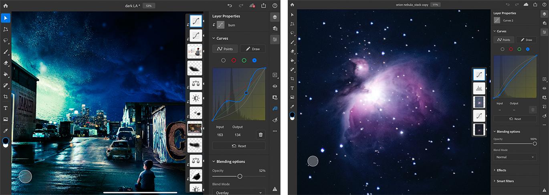 aggiornamento photoshop ipad curve