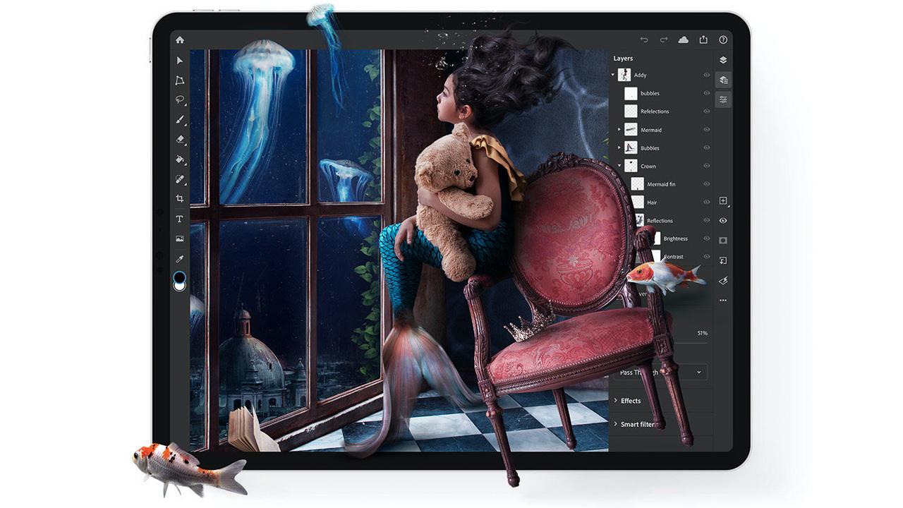 Photoshop per iPad si aggiorna portando due funzionalità molto attese thumbnail